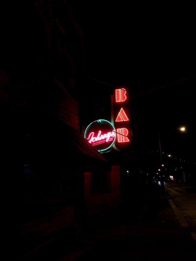 sign at night