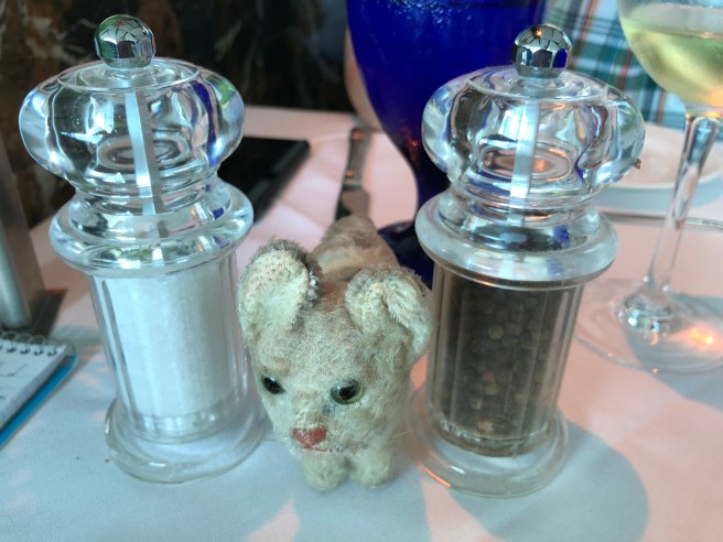 Frankie approved of grinders on each table