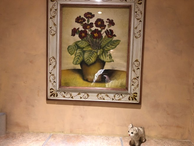 Frankie found a painting of flowers