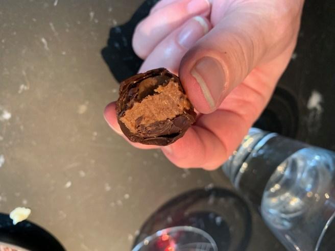 inside dark chocolate