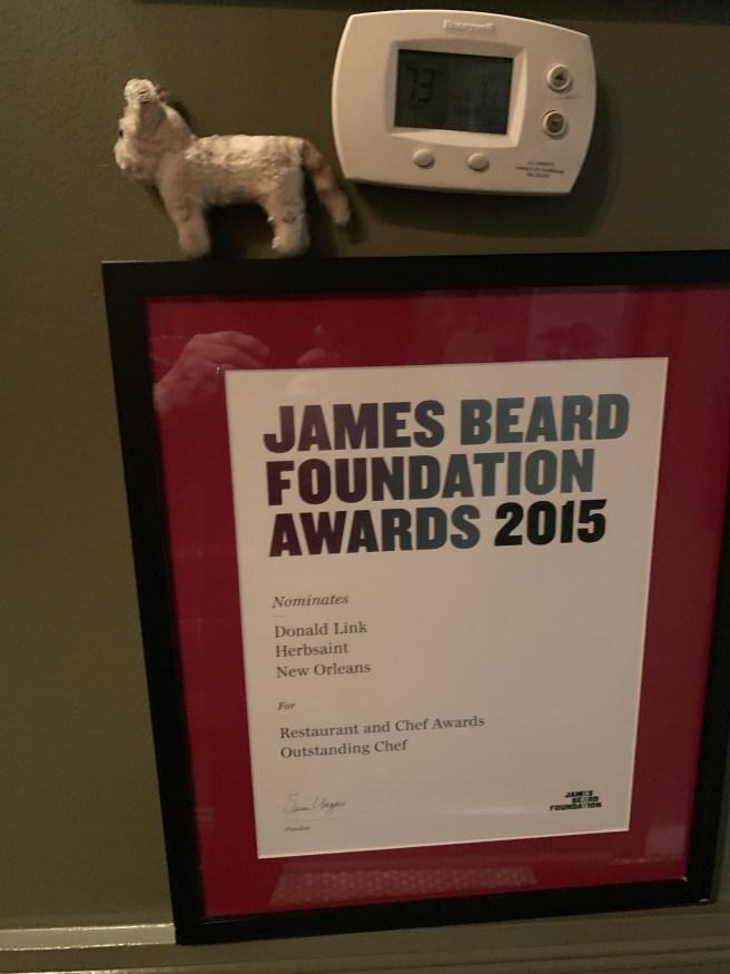 Frankie and a James Beard Award