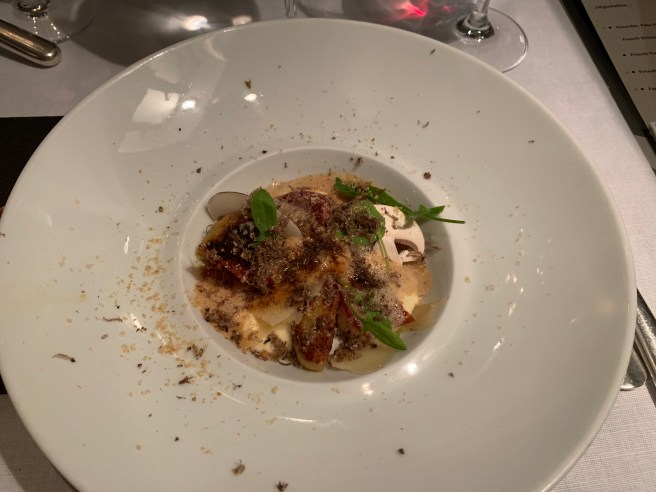 Gnocchis, Pata-Negra and parmesan