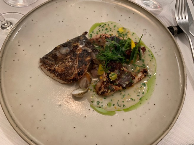 Sea Bream head with BBQ