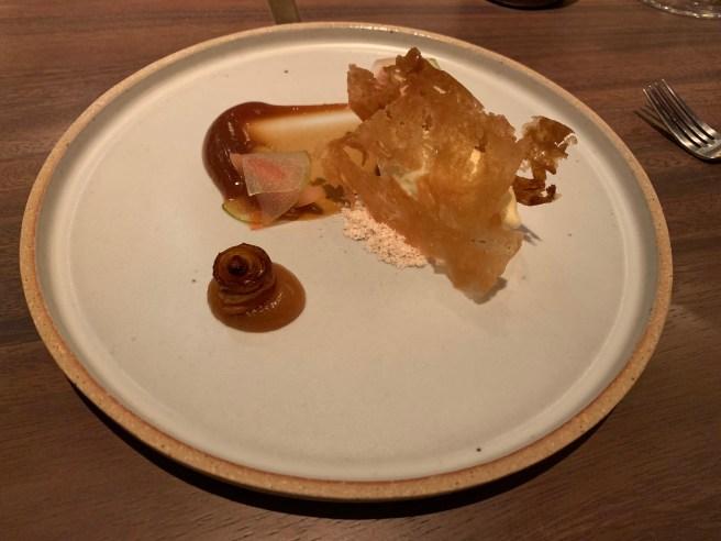 Fresh Jersey Cream, Mountain Rose apple and Mugi miso