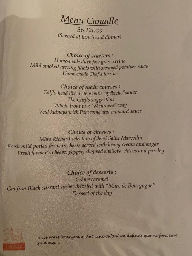 menu 6 English