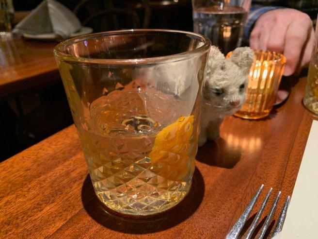 Barrel Aged Old Fashioned - Sagamore Rye, sugar, black walnut bitters