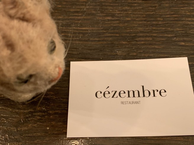 Frankie found the restaurant card
