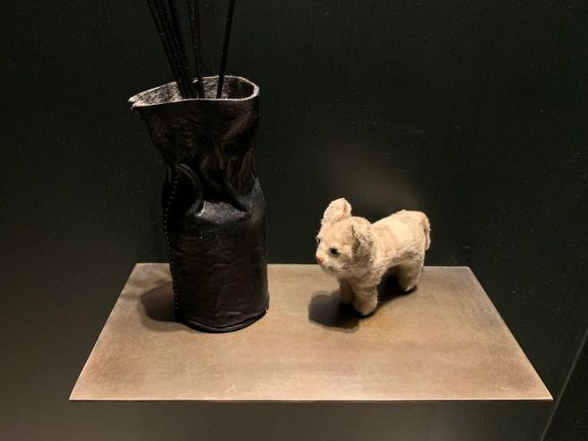 Frankie and vase