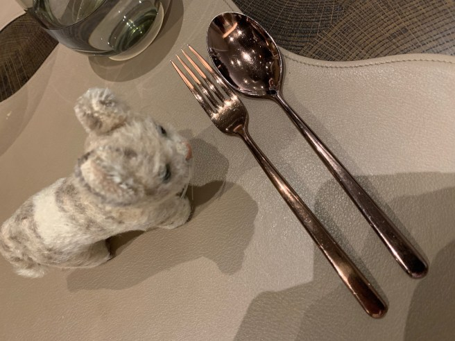 Frankie inspected the flatware
