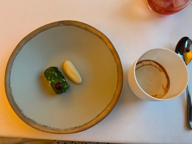 blue crab and white asparagus
