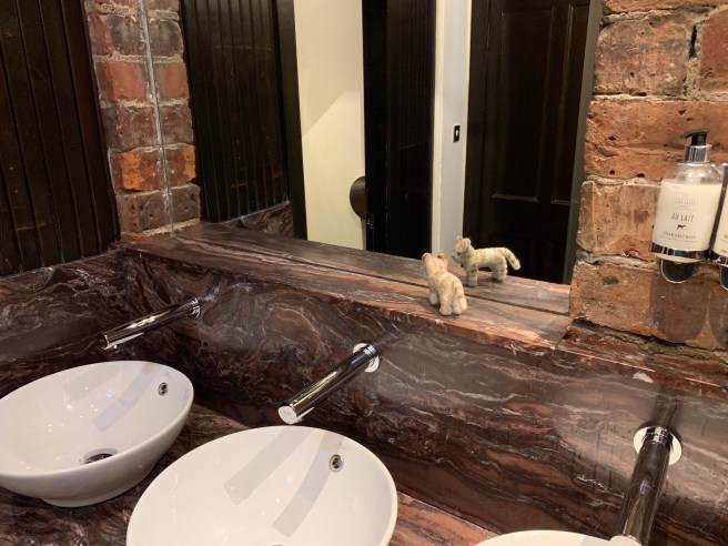 Frankie checked out the bathroom