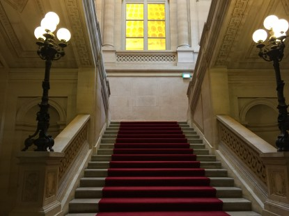 Staircase leading to Guy Savoy
