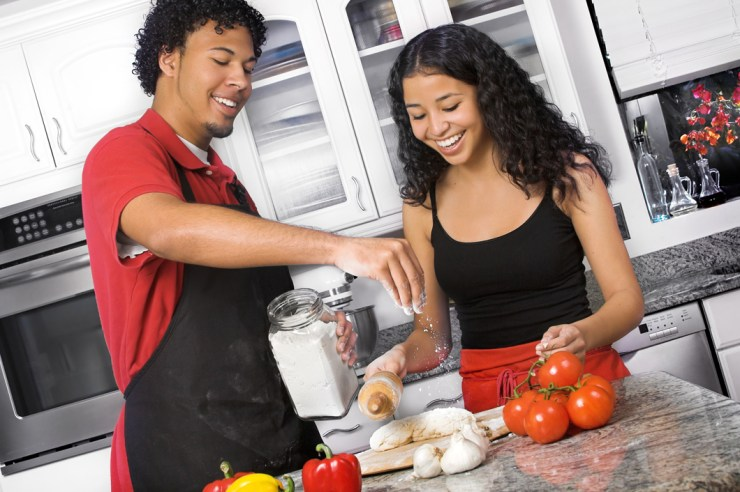 Image result for black couple cooking
