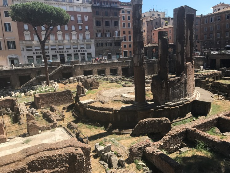 Ancient temple ruins at Largo di Torre Argentina