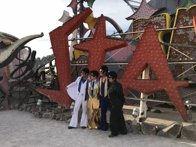 Elvises at the Neon Museum