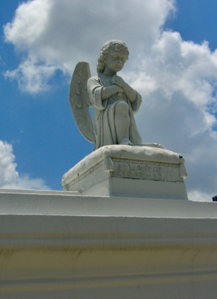 Cemeteries of New Orleans are filled with beautiful statues and tombs