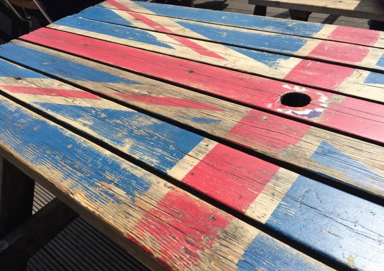Union Jack Flag table