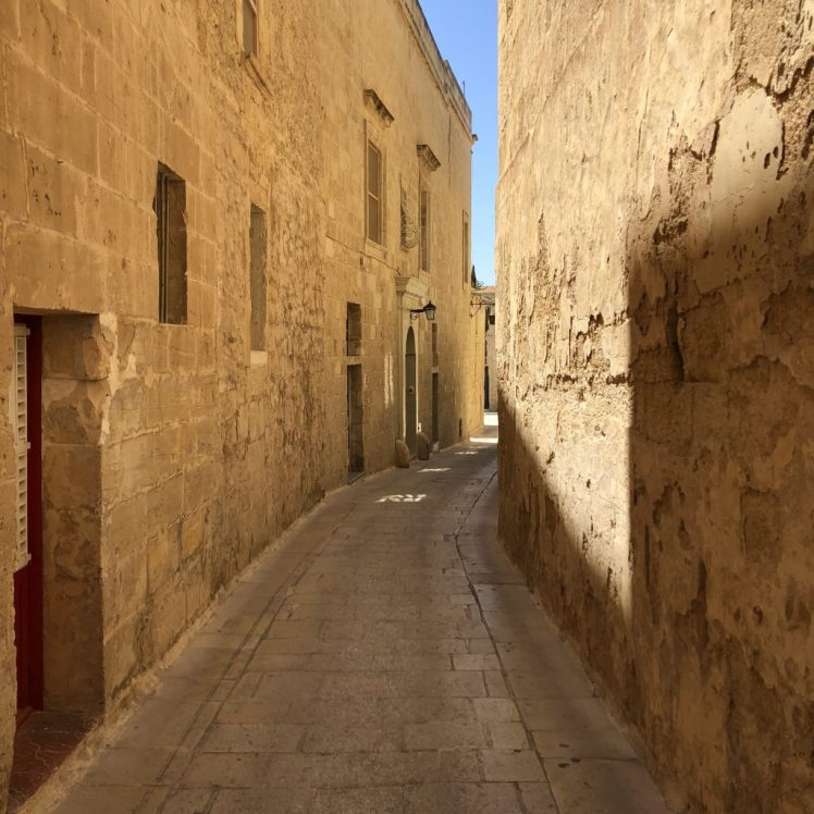Silent streets of Mdina, Malta