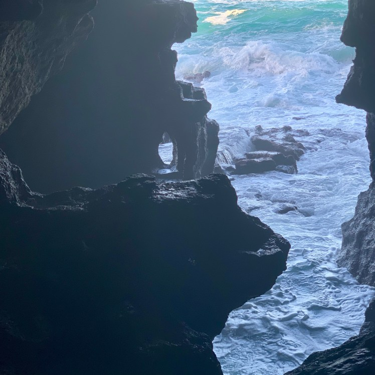 The ocean opening of the Cave of Hercules, Grotto d'Hercul in Tangier, Morocco