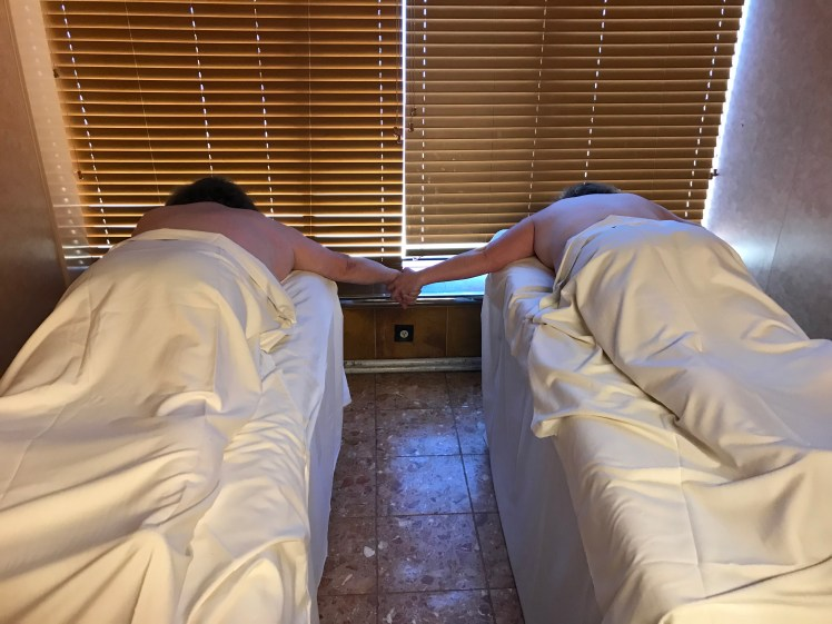 Couples travel experience, couples massage