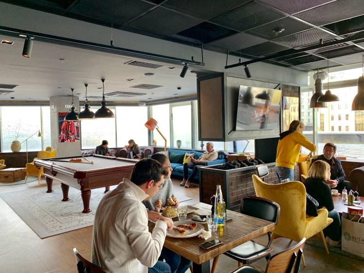 Penta Hotel Moscow lobby has a bar & restaurant
