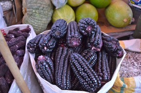 Purple corn in the markets in Arequipa
