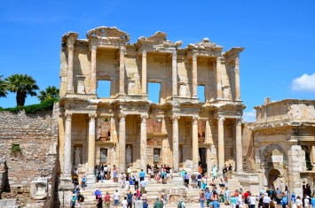 Library of Celsus in the Ancient City of Ephesus