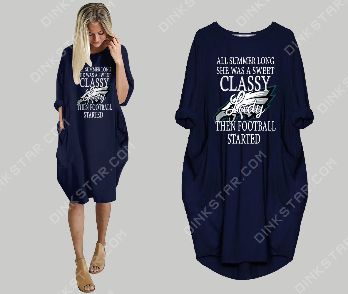 huge selection of 04eba 5d71b Philadelphia Eagles Loose Casual Dress - 2987