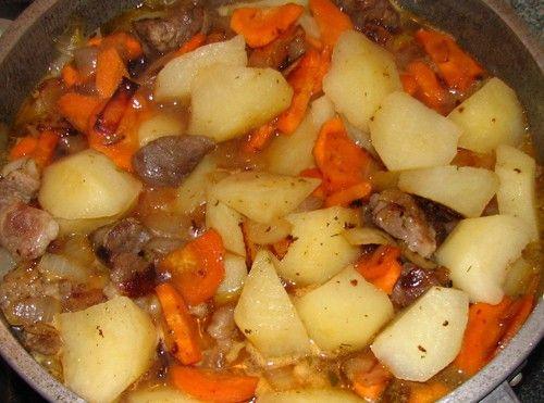 Тушёная картошка с мясом в кастрюле пошаговый рецепт с фото
