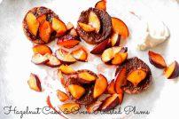 Hazelnut Cake Slices with Sugar Baked Plums