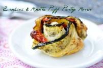 Zucchini & Ricotta Puff Pastry Roses