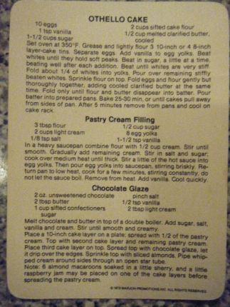 Othello Cake recipe
