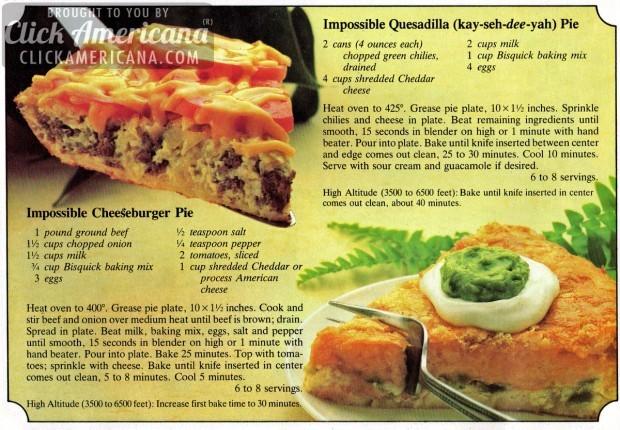 impossible-quesadilla-pie-june-1982 & Impossible Quesadilla (that\u0027s kay-seh-dee-yah) Pie | Dinner Is ...