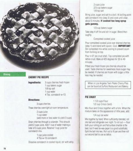 twin peaks cherry pie recipe