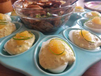 Caviar Canape Pie (1950 & 1980) and Caviar Stuffed Eggs
