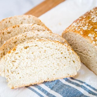 Honey Oat Bread - a soft and tender bread with oats and sweet honey.  This is an easy no-knead bread that is great for toast, sandwiches, or even with soup for dinner.