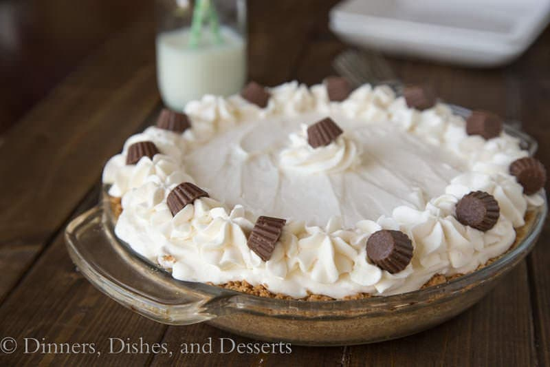 Chocolate Peanut Butter Cream Pie {Dinners, Dishes, and Desserts}