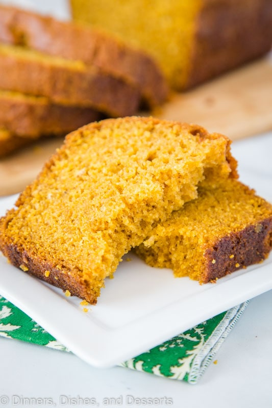 Easy pumpkin bread you can have any time. Great to slice and freeze so you can enjoy all season long.