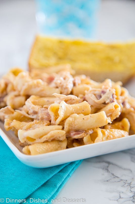 smokey garlic chicken pasta recipe