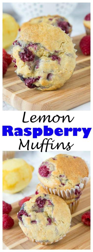 Lemon Raspberry Muffins - lots of bright lemon flavor and fresh raspberries for a tender and delicious muffin.