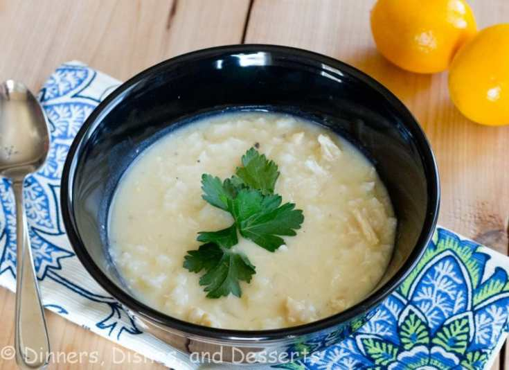 Avgolemono Soup - a classic Greek soup that is light, delicious and the perfect way to warm up on a cold day. A lemon chicken and rice soup you are going to love!