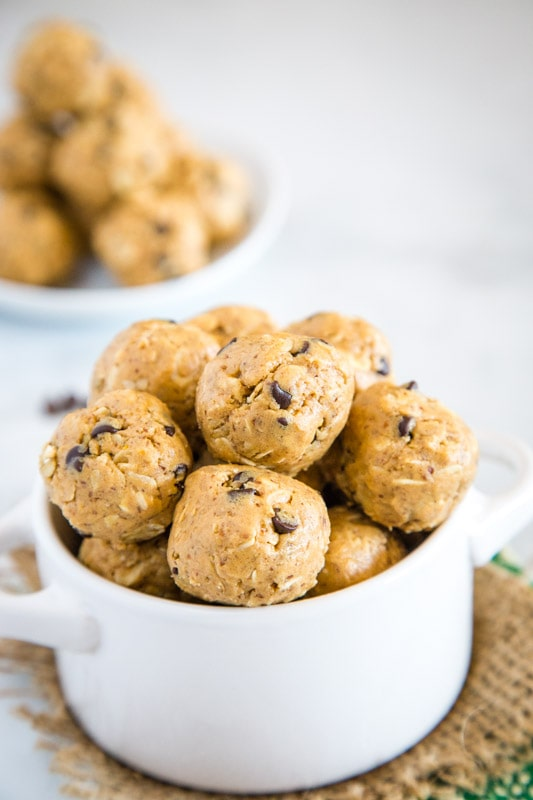 Peanut Butter protein balls are a perfect quick snack.