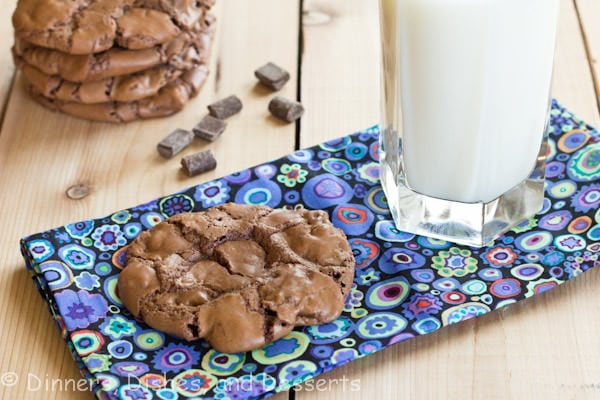 outrageous chocolate cookies on a table