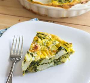 indian spiced quiche on a plate