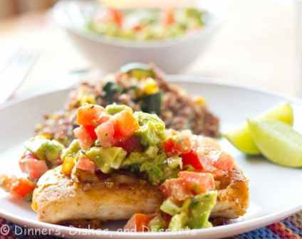 Grilled Chciken with Avocado Tomato Salsa