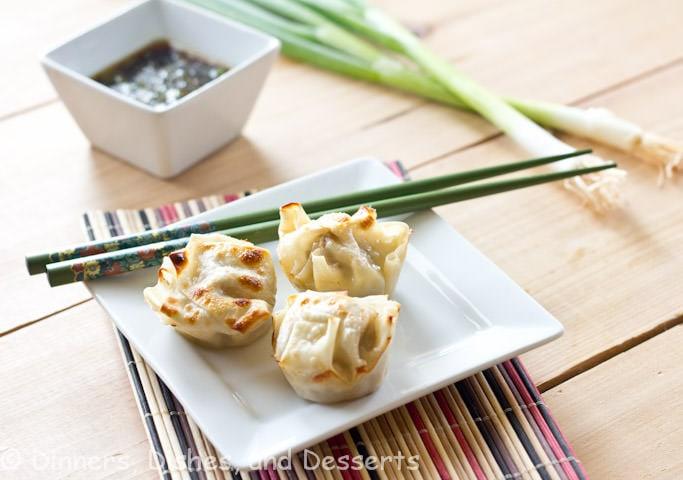 asain dumplings on a plate