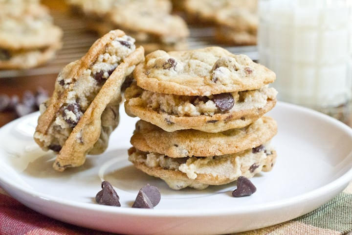 Chocolate Chip Cookie Dough Sandwich Cookies
