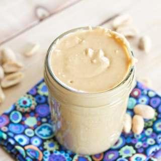 homemade peanut butter in a jar