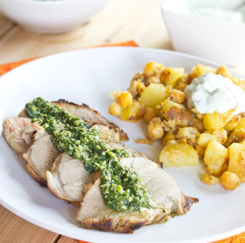 Lime-Marinated Pork Tenderloin with Chimichurri