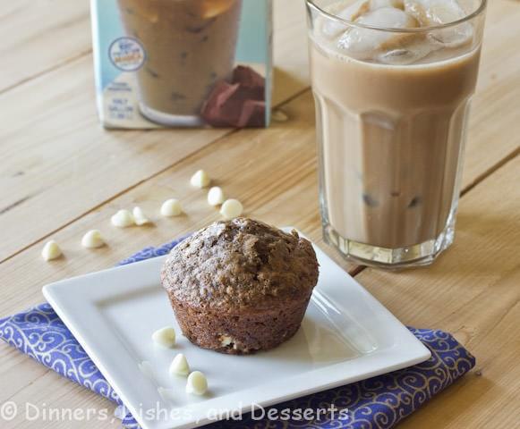 mocha muffins on a plate